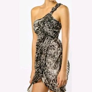 NWT Bcbgmaxazria Womans Animal Print Silk Dress 6